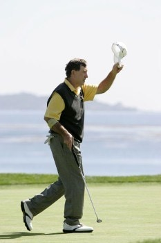Gil Morgan in action during the final round of the 2005 Wal-Mart First Tee Open at Pebble Beach Golf Links, on September 4,2005. The event is being held at Pebble Beach Golf Links & Del Monte G.C., Pebble Beach, Ca. Hale Irwin shot -13 under for the win.  It's his third win of the 2005 season.Photo by Stan Badz/PGA TOUR/WireImage.com