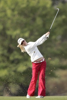 Carin Koch in action during the first round of the 2005 Michelob Ultra Open at the Kingsmill Resort River course on May 4, 2005Photo by Pete Fontaine/WireImage.com