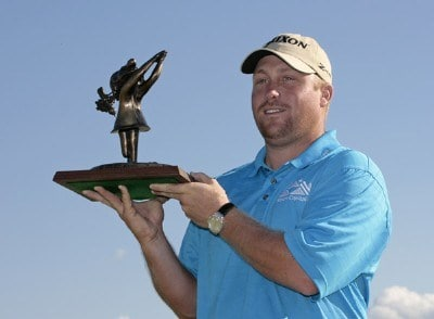 John Rollins wins the B.C. Open held on the Atunyote course at Turning Stone Resort in Vernon, New York, on July 23, 2006.Photo by: Chris Condon/PGA TOUR