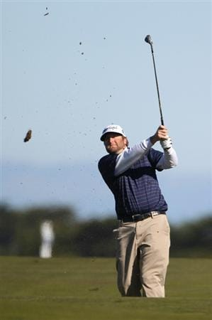 PEBBLE BEACH, CA - FEBRUARY 12:  Steve Marino hits from the 13th fairway at the AT&T Pebble Beach National Pro-Am- Round Three at the Monterey Peninsula country club on February 12, 2011 in Pebble Beach, California.  (Photo by Jed Jacobsohn/Getty Images)