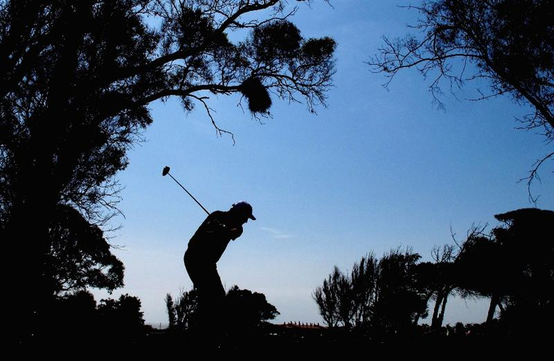 MALAGA, SPAIN - MARCH 26: Kenneth Ferrie of England tees off on the 18th hole during the third round of the Open de Andalucia at the Parador de Malaga Golf Course on March 26, 2011 in Malaga, Spain.  (Photo by Ross Kinnaird/Getty Images)