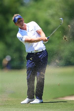 NEW ORLEANS, LA - APRIL 29: Luke Donald of England hits his third shot on the seventh hole during the second round of the Zurich Classic at the TPC Louisiana on April 29, 2011 in New Orleans, Louisiana. (Photo by Hunter Martin/Getty Images)