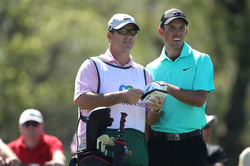 DORAL, FL - MARCH 13:  Charl Schwartzel of South Africa wait to tee off on the fifth tee box during round three of the 2010 WGC-CA Championship at the TPC Blue Monster at Doral on March 13, 2010 in Doral, Florida.  (Photo by Scott Halleran/Getty Images)