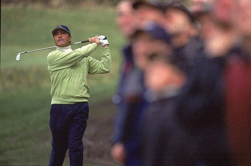 15 Apr 2000:  Seve Ballestaros of Spain and Continental Europe on the 14th during the Singles Play during the inagural Eurobet Seve Ballesteros Trophy between Continental Europe v Great Britain and Ireland held at Sunningdale Golf Club in Sunningdale, England. \ Mandatory Credit: Stephen Munday /Allsport