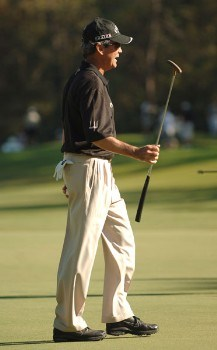 Mark McNulty walks up the 17th green during the final round of the Champion's TOUR Administaff Small Business Classic at Augusta Pines Country Club in Spring, Texas October 16, 2005Photo by Steve Grayson/WireImage.com