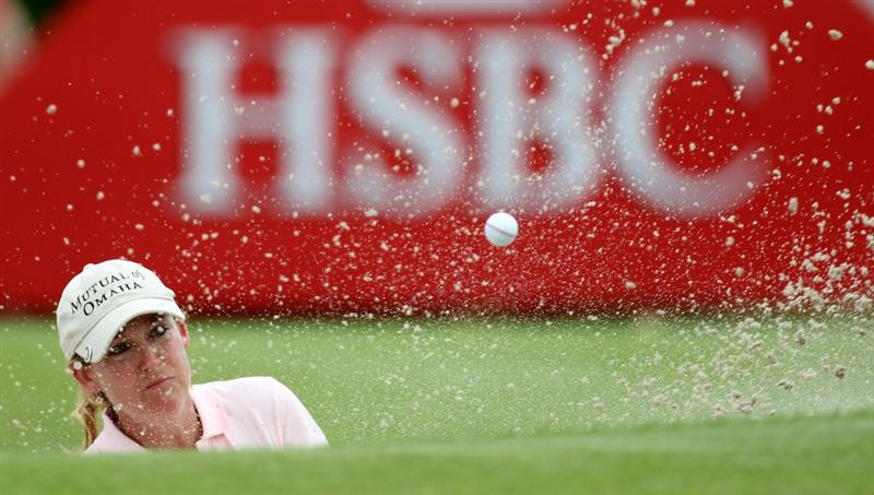 SINGAPORE - FEBRUARY 27:  Cristie Kerr of the USA during the third round of the HSBC Women's Champions at the Tanah Merah Country Club on February 27, 2010 in Singapore.  (Photo by Ross Kinnaird/Getty Images)