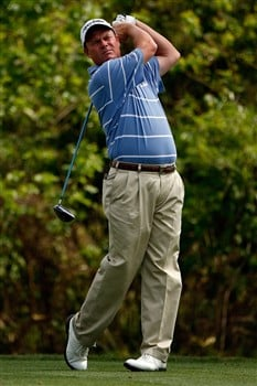 AVONDALE, LA - MARCH 30:  Joe Durant tees off on the second hole during the final round of the Zurich Classic of New Orleans on March 30, 2008  at TPC Louisiana in Avondale, Louisiana.  (Photo by Chris Graythen/Getty Images)