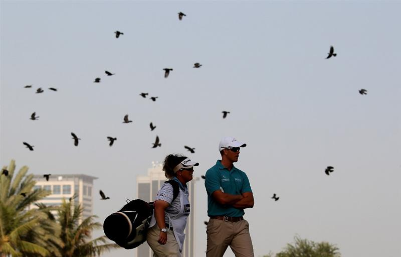 DUBAI, UNITED ARAB EMIRATES - FEBRUARY 04:  Henrik Stenson of Sweden on the par four 13th hole during the first round the Omega Dubai Desert Classic on the Majlis Course at the Emirates Golf Club on February 4, 2010 in Dubai, United Arab Emirates.  (Photo by Ross Kinnaird/Getty Images)