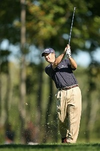 Charles Warren hits his tee shot on the 8th hole during the final round of the Turning Stone Resort Championship at Atunyote Golf Club September 23, 2007 in Verona, NY. PGA TOUR - 2007 Turning Stone Resort Championship - Final RoundPhoto by Mike Ehrmann/WireImage.com