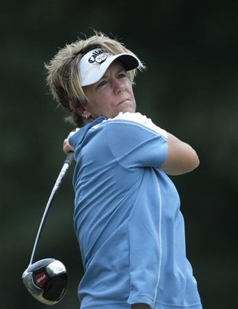 MOBILE, AL - SEPTEMBER 12:  Beth Bader watches her tee shot on the 11th hole during second round play in the Bell Micro LPGA Classic at Magnolia Grove Golf Course on September 12, 2008 in Mobile, Alabama.  (Photo by Dave Martin/Getty Images)