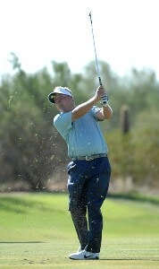 Carl Pettersson hits his approach shot into the 10th hole during the third round of the Fry's Electronics Open on October 20, 2007 at the Grayhawk Golf Club in Scottsdale, Arizona PGA TOUR - 2007 Frys Electronics Open - Third RoundPhoto by Marc Feldman/WireImage.com