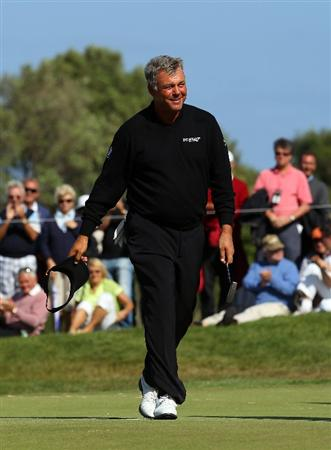 MALLORCA, SPAIN - MAY 15:  Darren Clarke of Northern Ireland walks off the 18th green after his round during day four of the Iberdrola Open at Pula Golf Club on May 15, 2011 in Mallorca, Spain.  (Photo by Julian Finney/Getty Images)
