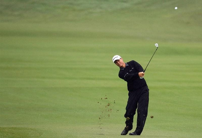 SYDNEY, AUSTRALIA - DECEMBER 11:  John Senden of Australia plays an approach shot on the 16th hole during the first round of the 2008 Australian Open at The Royal Sydney Golf Club on December 11, 2008 in Sydney, Australia.  (Photo by Mark Nolan/Getty Images)