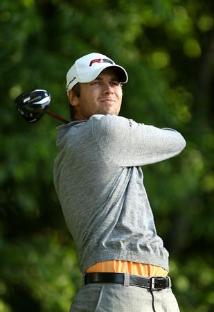 CHARLOTTE, NC - APRIL 30:  Sean O'Hair watches his tee shot on the 5th hole during the second round of the Quail Hollow Championship at Quail Hollow Country Club on April 30, 2010 in Charlotte, North Carolina.  (Photo by Streeter Lecka/Getty Images)