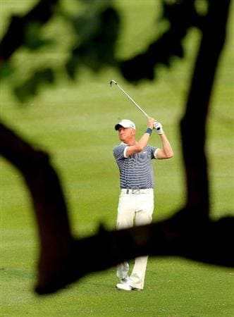 HONG KONG - NOVEMBER 20:  Simon Dyson of England in action during day three of the UBS Hong Kong Open at The Hong Kong Golf Club on November 20, 2010 in Hong Kong, Hong Kong.  (Photo by Stanley Chou/Getty Images)
