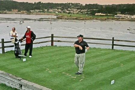 Craig Stadler watches his tee shot at the 7th during the second round of the 2005 Wal-Mart First Tee Open at Pebble Beach Golf Links, on September 3,2005. The event is being held at Pebble Beach Golf Links & Del Monte G.C., Pebble Beach, Ca.Photo by Stan Badz/PGA TOUR/WireImage.com