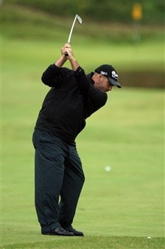 SOUTHPORT, UNITED KINGDOM - JULY 18:  Rocco Mediate of USA approaches the 2nd during the second round of the 137th Open Championship on July 18, 2008 at Royal Birkdale Golf Club, Southport, England.  (Photo by David Cannon/Getty Images)