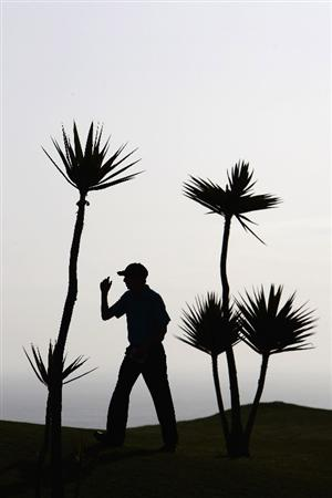 MADEIRA, PORTUGAL - MARCH 19:  Luke Gough of England prepares to start on the 1st tee during round one of the Madeira Islands Open BPI  at the Porto Santo Golfe Club on March 19, 2009 in Porto Santo,Portugal.  (Photo by Michael Steele/Getty Images)
