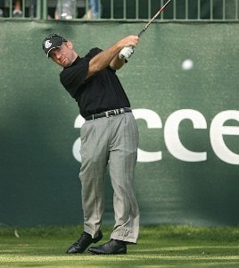 Rod Pampling during a practice round for the 2006 Accenture Match Play Championship at the La Costa Resort & Spa in Carlsbad, California on February 21, 2006.Photo by Scott Clarke/WireImage.com