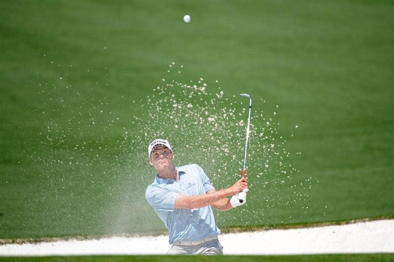 AUGUSTA, GA - APRIL 12:  Nick Watney hits out of a bunker on the second hole during the final round of the 2009 Masters Tournament at Augusta National Golf Club on April 12, 2009 in Augusta, Georgia.  (Photo by Harry How/Getty Images)