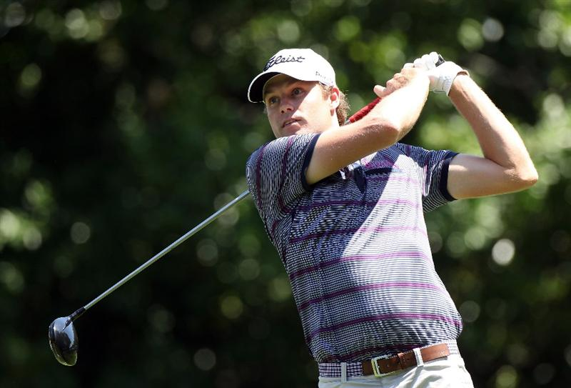 PALM HARBOR, FL - MARCH 17:  Nick Watney plays a shot on the 9th hole during the first round of the Transitions Championship at Innisbrook Resort and Golf Club on March 17, 2011 in Palm Harbor, Florida.  (Photo by Sam Greenwood/Getty Images)