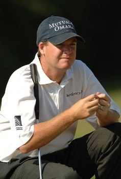 Joe Ogilvie waits to putt on the 16th green during the final round of the 2005 Valero Texas Open at La Cantera in at La Cantera Country Club in San Antonio, Texas September 25, 2005.Photo by Steve Grayson/WireImage.com