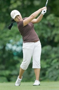 Jeong Jang in action during the third round of the 2005 Wendy's Championship for Children at the Tartan Fields Golf Club in Dublin, Ohio on Saturday August 27, 2005.Photo by Hunter Martin/WireImage.com