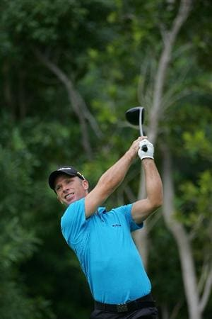 RIVIERA MAYA, MEXICO - FEBRUARY 18:  Richard S. Johnson of Sweden  during the first round of the Mayakoba Golf Classic at El Camaleon Golf Club held on February 18, 2010 in Riviera Maya, Mexico.  (Photo by Michael Cohen/Getty Images)