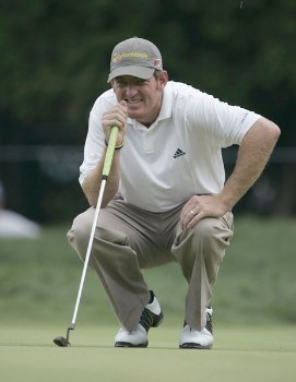 Greg Owen on the second hole during the final round of the 2005 PGA Championship at Baltusrol Golf Club in Springfield, New Jersey on August 14, 2005.Photo by Christopher Condon/WireImage.com