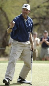 Jerry Kelly birdies the 12th hole during the final round of the 2006 Chrysler Classic of Tucson on Sunday , February 26, 2006 at the Omni Tucson National Golf Resort and Spa in Tucson, ArizonaPhoto by Marc Feldman/WireImage.com