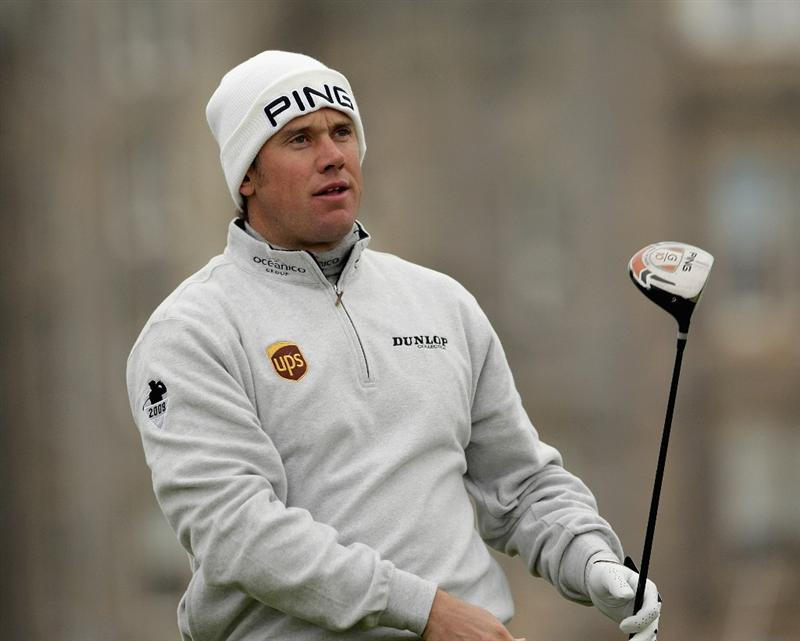ST ANDREWS, SCOTLAND - OCTOBER 10:  Lee Westwood of England drives off the second tee during the final round of The Alfred Dunhill Links Championship at The Old Course on October 10, 2010 in St Andrews, Scotland.  (Photo by Andrew Redington/Getty Images).  (Photo by Andrew Redington/Getty Images)