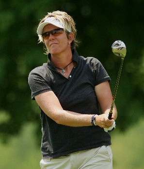 CORNING, NY - MAY 24:  Beth Bader hits her tee shot on the 18th hole during the first round of the Corning Classic at the Corning Country Club on May 24, 2007 in Corning, New York.  (Photo by Kyle Auclair/Getty Images)