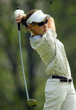 Mexican Alejandra LLaneza during day 1 of the 2005 Abierto Mexicano Master Card Classic held at the Bosque Real Country Club in Mexico City, Mexico on March 4, 2005.