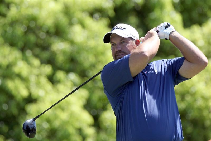 PALM HARBOR, FL - MARCH 19:  Brendon de Jonge plays a shot on the 6th hole during the third round of the Transitions Championship at Innisbrook Resort and Golf Club on March 19, 2011 in Palm Harbor, Florida.  (Photo by Sam Greenwood/Getty Images)