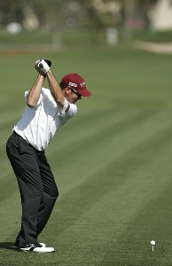 Rich Beem drives on the second hole in action during the second round of the Ford Championship at Doral Golf Resort and Spa in Miami, Florida on March 3, 2006.Photo by Michael Cohen/WireImage.com