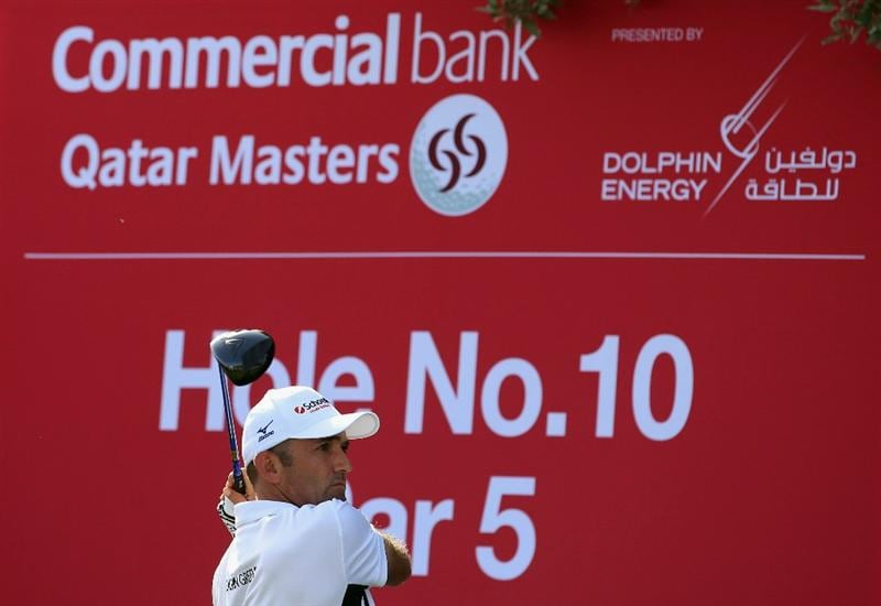 DOHA, QATAR - FEBRUARY 05:  Markus Brier of Austria hits his tee-shot on the tenth hole during the third round of the Commercialbank Qatar Masters held at Doha Golf Club on February 5, 2011 in Doha, Qatar.  (Photo by Andrew Redington/Getty Images)