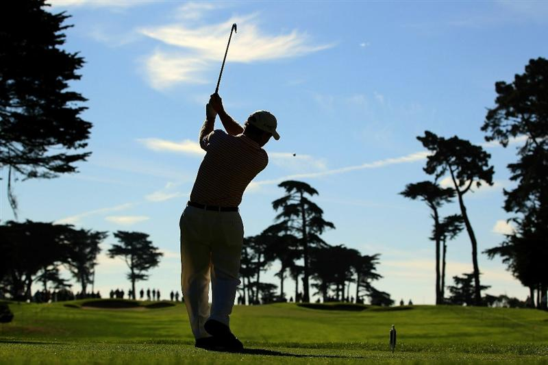 SAN FRANCISCO - NOVEMBER 04:  Tom Watson tees off on the 3rd hole during round 1 of the Charles Schwab Cup Championship at Harding Park Golf Course on November 4, 2010 in San Francisco, California.  (Photo by Ezra Shaw/Getty Images)