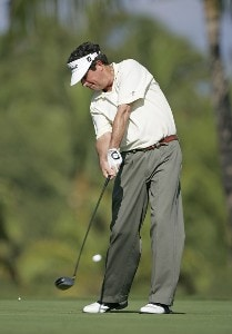 Bruce Lietzke in action during the Wednesday Pro-Am at the 2006 Mastercard Championship  at Hualalai resort,  Kona, Hawaii.Photo by: Chris Condon/PGA TOUR
