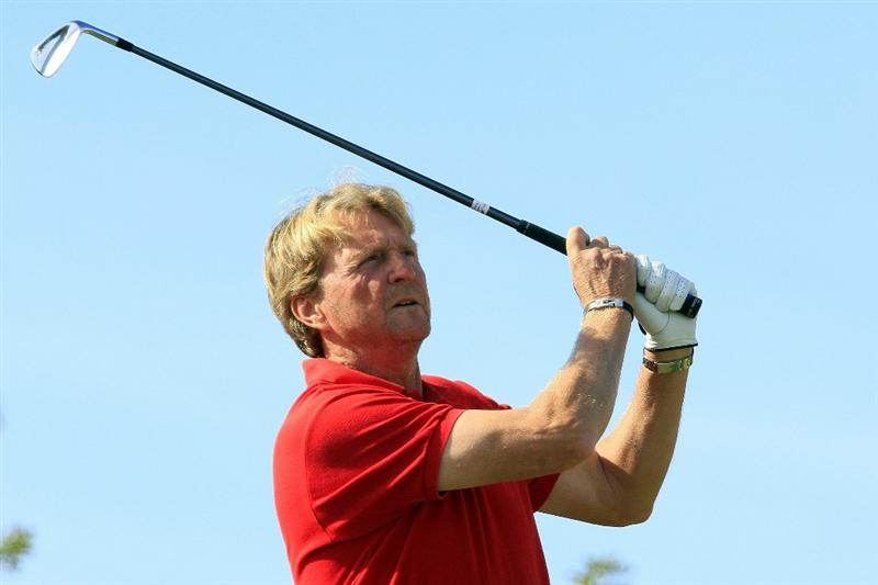 PORTIMAO, PORTUGAL - NOVEMBER 16:  Peter Dahlberg of Sweden in action during the second round of the European Senior Tour Qualifying School Finals played at Vale da Pinta, Pestana Golf Resort on November 16, 2010 in Portimao, Portugal.  (Photo by Phil Inglis/Getty Images)