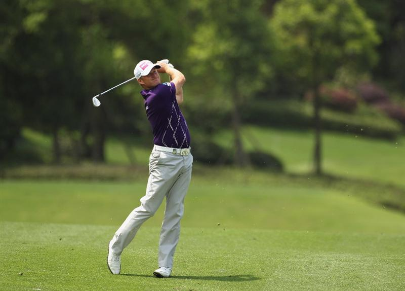 CHENGDU, CHINA - APRIL 23:  Jamie Donaldson of Wales in action during day three of the Volvo China Open at Luxehills Country Club on April 23, 2011 in Chengdu, China.  (Photo by Ian Walton/Getty Images)