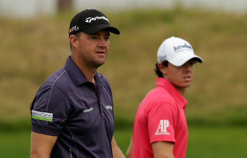 Peter Hanson and Rory McIlroy