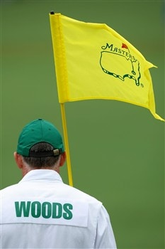AUGUSTA, GA - APRIL 12: Steve Williams waits on the second green during the third round of the 2008 Masters Tournament at Augusta National Golf Club on April 12, 2008 in Augusta, Georgia.  (Photo by Harry How/Getty Images)