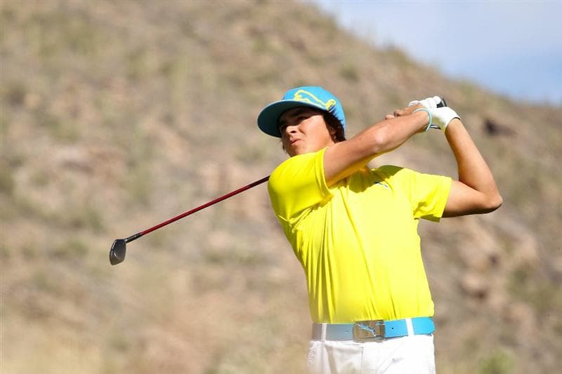 MARANA, AZ - FEBRUARY 25:  Rickie Fowler hits his tee shot on the 16th hole during the third round of the Accenture Match Play Championship at the Ritz-Carlton Golf Club on February 25, 2011 in Marana, Arizona.  (Photo by Andy Lyons/Getty Images)