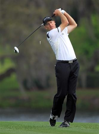 ORLANDO, FL - MARCH 24:  Jim Furyk of the USA drives from the 16th tee during the first round of the 2011 Arnold Palmer Invitational presented by Mastercard at the Bay Hill Lodge and Country Club on March 24, 2011 in Orlando, Florida.  (Photo by David Cannon/Getty Images)