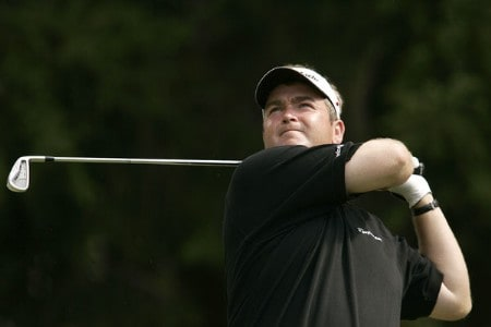 Garry Houston during the third round of the 2005 Omega European Masters at the Crans-sur-Sierre Golf Club in Crans-Montana, Switzerland on September 3, 2005.Photo by Pete Fontaine/WireImage.com