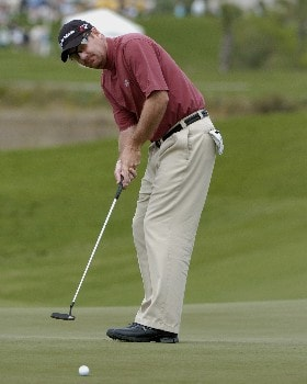 Kevin Johnson  competes  in  second  round competition at the 2005 Honda Classic March 11, 2005 in Palm Beach Gardens, Florida.