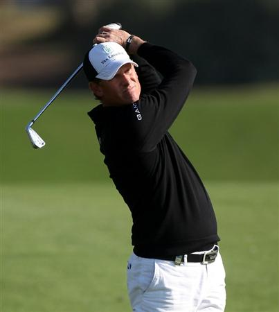 DOHA, QATAR - FEBRUARY 04:  Maarten Lafeber of the Netherlands during the second round of the Commercialbank Qatar Masters at the Doha Golf Club on February 4, 2011 in Doha, Qatar.  (Photo by Ross Kinnaird/Getty Images)