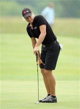 HAVRE DE GRACE, MD - JUNE 05:  Suzann Pettersen of Norway just misses an eagle putt at the eighth hole during the first round of the 2008 McDonald's LPGA Championship held at Bulle Rock Golf Course, on June 5, 2008 in Havre de Grace, Maryland.  (Photo by David Cannon/Getty Images)