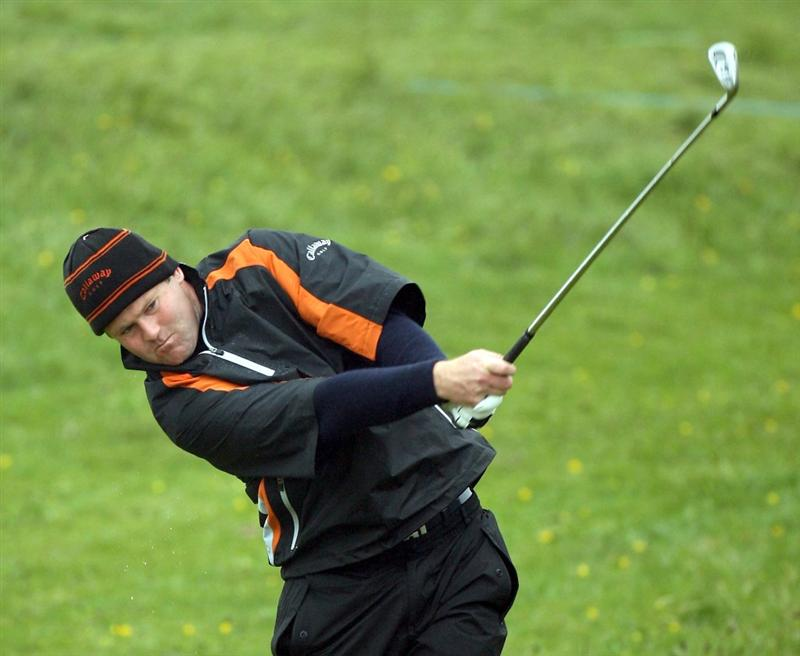 BALTRAY, IRELAND - MAY 15: Alastair Forsyth of Scotland in action during the second round of The 3 Irish Open at County Louth Golf Club on May 15, 2009 in Baltray, Ireland.  (Photo by Ross Kinnaird/Getty Images)