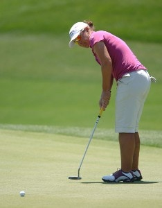 Karen Stupples in action during the third round of the LPGA's 2006 Michelob ULTRA Open at Kingsmill, at the Kingsmill Resort and Spa River Course in Williamsburg, Virginia on May 13, 2006.Photo by Steve Grayson/WireImage.com